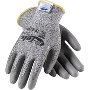 G-Tek CR Plus Cut Resistant Work Gloves, Dyneema With Nylon & Lycra Blend & Polyurethane Coating, Large, Gray, 1 Pair