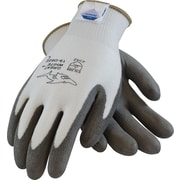 Great White Cut Resistant Work Gloves, Dyneema & Lycra With Polyurethane Coating, Medium, Gray & Black, 1 Pair
