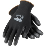 G-Tek ONX Seamless Knit Work Gloves, Nylon With Polyurethane Coating, Medium, Black, 12 Pairs