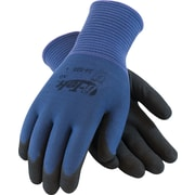 G-Tek ActivGrip Seamless Knit Work Gloves, Nylon With Nitrile MicroFinish Coating, Large, Blue & Black, 12 Pairs