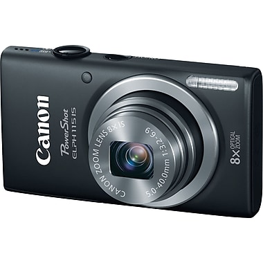Canon PowerShot ELPH 115 IS Digital Camera, Black