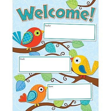 Carson-Dellosa Boho Birds Welcome Chart