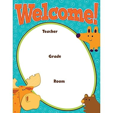Carson-Dellosa Moose & Friends Welcome Chart