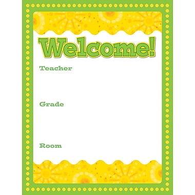 Carson-Dellosa Lemon Lime Welcome Chart