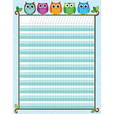 Carson-Dellosa Colorful Owls Incentive Chart