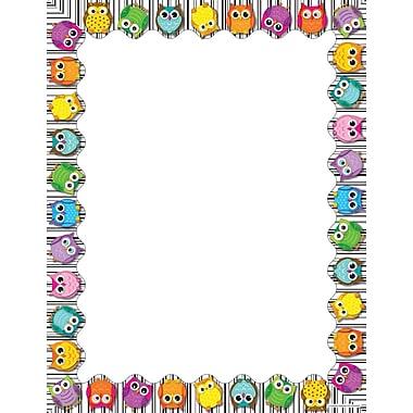 Carson-Dellosa Colorful Owls Computer Paper