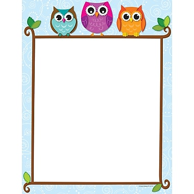 Carson-Dellosa Colorful Owls on a Branch Computer Paper