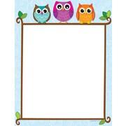 Carson-Dellosa Colorful Owls on a Branch Computer Paper