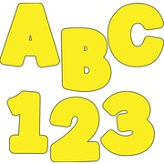 "Carson-Dellosa Publishing 130048 4.25"" x 5.5"" DieCut EZ Letters, Yellow"