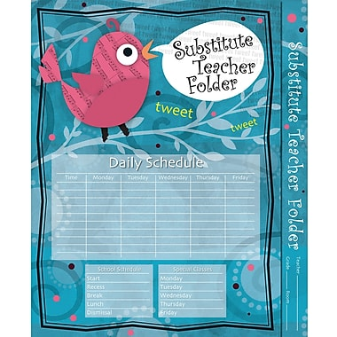 Carson-Dellosa Substitute Teacher Folder: Song Bird Folder