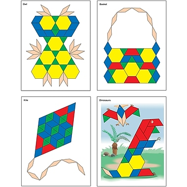 Carson-Dellosa Pattern Block Picture Cards Manipulative