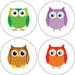 Carson-Dellosa Colorful Owls Stickers