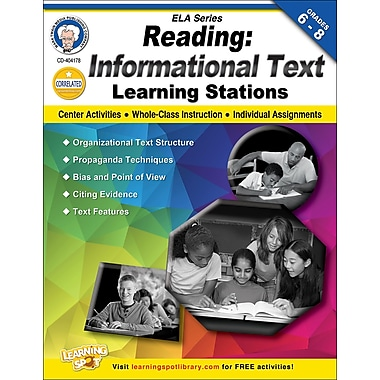 Mark Twain Reading - Informational Text Workbook, Grades 6 - 8