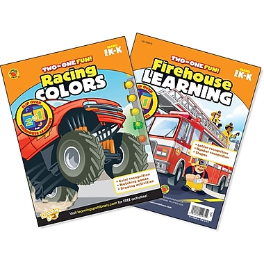 Brighter Child Racing Colors & Firehouse Learning Workbook