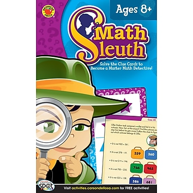 Brighter Child Math Sleuth Flash Cards, Grades 3 - 5