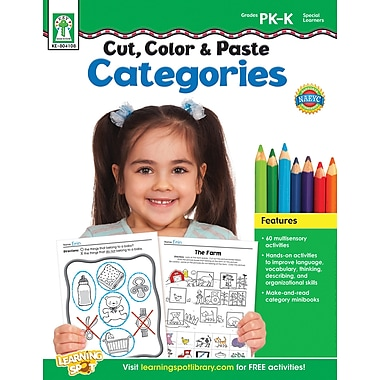 Key Education Cut, Color & Paste Categories Workbook