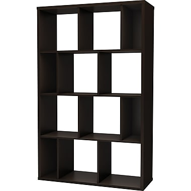 South Shore Work ID 39in. Shelving Unit, Chocolate