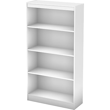 South Shore Work ID 4-Shelf Bookcase, White