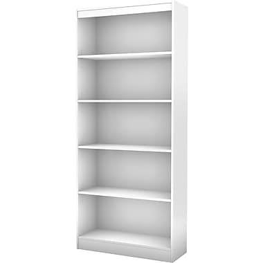 South Shore Work ID 5-Shelf Bookcase, White