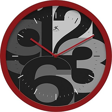 Infinity Instruments Mojo Red  Round, Grey Scale Wall Clock