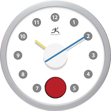 Infinity Instruments Red Eye Wall Clock