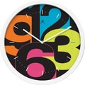 Infinity Instruments Mojo Aglow  Multi Colored, Wall Clock