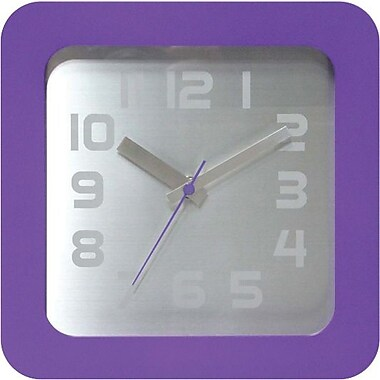 Infinity Instruments Times Squared Wall/Tabletop Clock, Purple