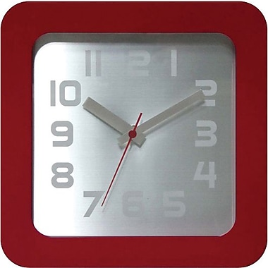 Infinity Instruments Times Squared Wall/Tabletop Clock, Red