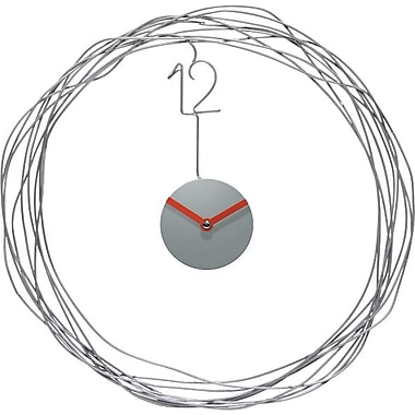 Infinity Instruments Wire Transfer Round, Wall Clock