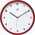 Infinity Instruments Cirrus Red Wall Clock, Red