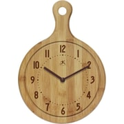 Infinity Instruments Bon Appetit Wall Clock, Bamboo