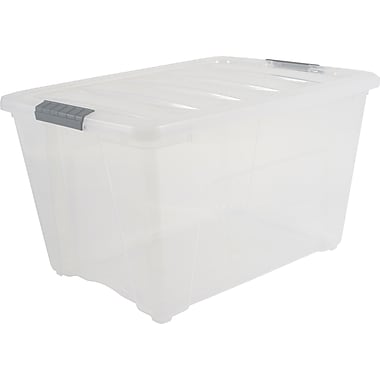 Iris 53.65 Quart Stack-N-Pull Box, Clear