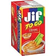 Jif To Go Creamy Peanut Butter, 1.5 oz. Cups, 8 Cups/Box