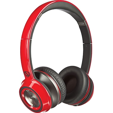 Monster NCredible N-Tune On-Ear Headphones, Red