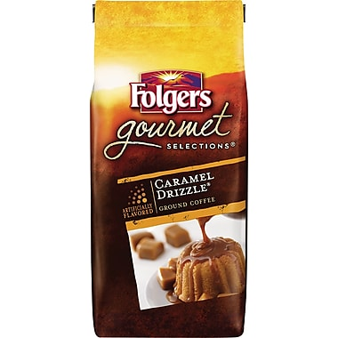 Folgers Gourmet Selections Ground Coffee, Caramel Drizzle, 10 oz. Bag