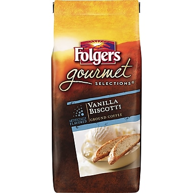 Folgers Gourmet Selections Ground Coffee, Vanilla Biscotti, 10 oz. Bag