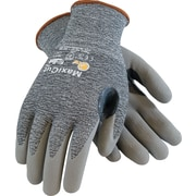 G-Tek MaxiCut Cut Resistant Work Gloves, Dyneema With Foam Nitrile Coating, Large, Gray, 1 Pair
