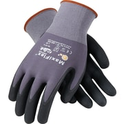 G-Tek MaxiFlex Ultimate Seamless Knit Work Gloves, Nylon Liner Micro-Foam Nitrile Coating, M, Dark Gray & Black, Dozen