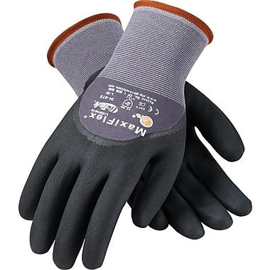 G-Tek MaxiFlex Ultimate Knit Work Gloves, Nylon Liner, L, Dark Gray & Black