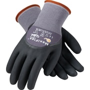 G-Tek MaxiFlex Ultimate Knit Work Gloves, Nylon Liner, L, Dark Gray & Black