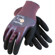 G-Tek MaxiDry Seamless Knit Work Gloves, Nylon With Foam Nitrile Coating, Extra-Large, Purple & Black, 1 Pair