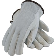 PIP Driver's Gloves, Top Grain Cowhide, Small, Gray & White, 1 Pair