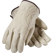 PIP Driver's Gloves, Top Grain Pigskin, Medium, Cream Color, 1 Pair