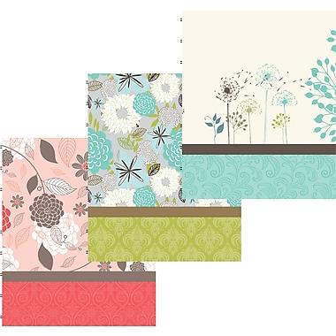 Blueline® - Cahier de notes, 9-1/4 po x 7-1/4 po, motifs floraux variés, 192 pages