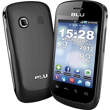 BLU Dash 3.2 D150a GSM Unlocked Dual SIM Android Cell Phone, Black