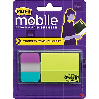 Post-it® Mobile Attach and Go Pop-up Notes and Tab Dispenser