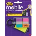 Post-it Mobile Attach and Go Pop-up Notes and Tabs Dispenser, Bright Colors, 24/Notes,24/Tabs