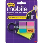 Post-it® Mobile Attach and Go Pop-up Notes and Tabs Dispenser, Bright Colors, 24/Notes,24/Tabs