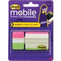 Post-it Mobile Attach and Go Tab Dispenser, 24 Tabs/Pack