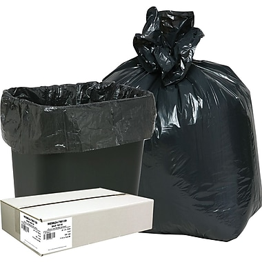 Webster Classic 2-Ply Trash Bags, Black, 7-10 Gallon, 500 Bags/Box